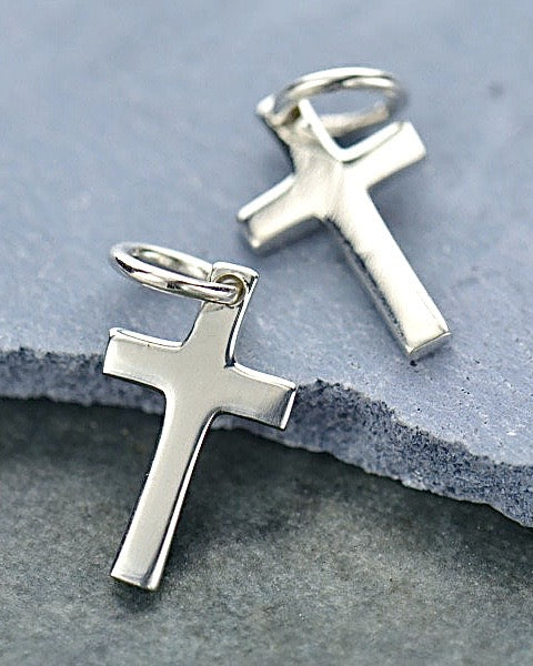 Silver Tiny Cross Necklace - DIVINE GRACE