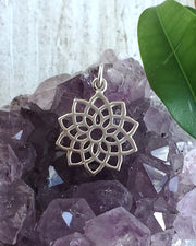 Sterling Silver Crown Chakra Necklace - SEAT OF DESTINY