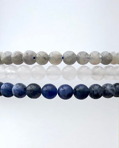 6mm Gemstone Bracelet Set for Divine Intuition