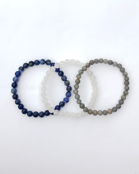 Divine Intuition 6mm Gemstone Bracelet Set