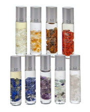 Quartz Crystal Essential Oil Gemstone Roll On - MANIFEST