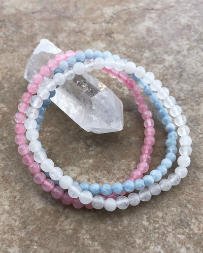 Fertility 4mm Mini Gemstone Bracelet Set
