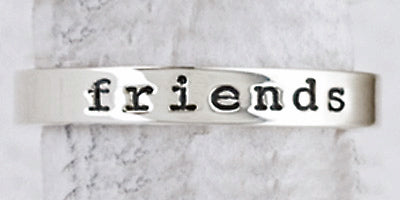 Sterling Silver Slim Friends Forever Ring