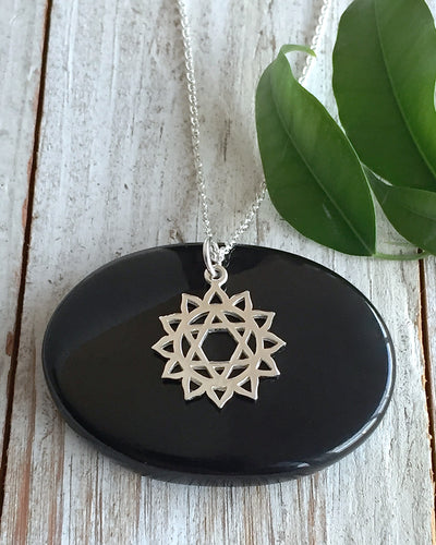 Sterling Silver Heart Chakra Necklace