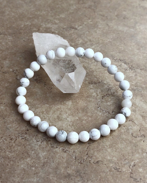 Howlite 6mm Gemstone Bracelet