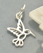 Tiny Silver Hummingbird Necklace