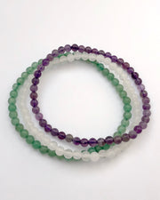 Mini Gemstone Bracelet Set for Tranquility