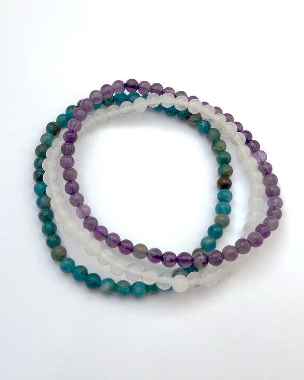 Mini Gemstone Bracelet Set for Balance and Clarity
