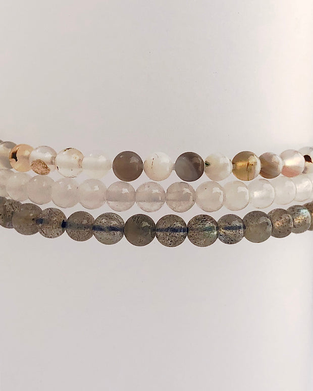 Mini Gemstone Bracelet Set for Inner Strength