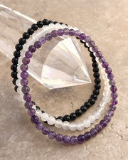 4mm Mini Gemstone Bracelet Set for Inner Peace