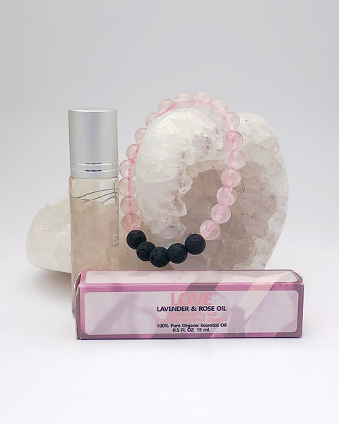 Rose Quartz Roll On and Bracelet - LOVE