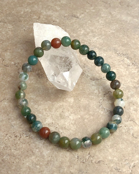 Indian Agate Gemstone Bracelet
