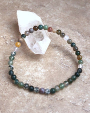 Indian Agate Mini 4mm Gemstone Bracelet