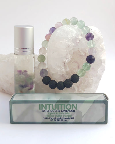 Fluorite Roll On and Bracelet - INTUITION