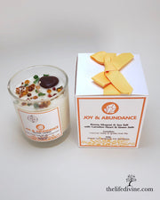 Joy & Abundance Crystal Candle