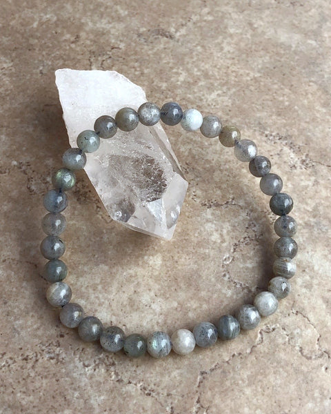 Labradorite 6mm Gemstone Bracelet