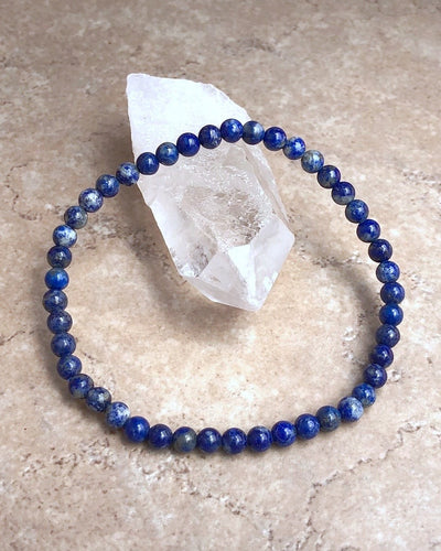 Children's Size Lapis Lazuli 4mm Gemstone Bracelet