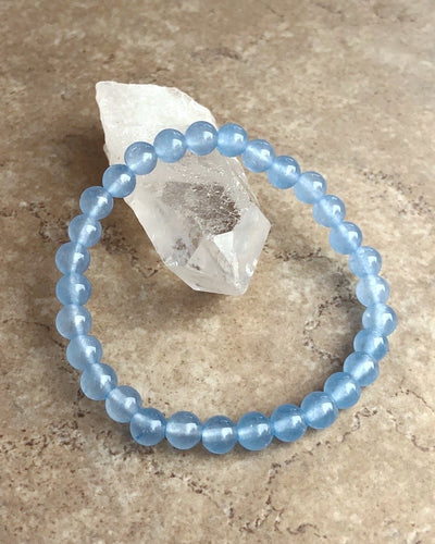 Light Blue Jade Gemstone Bracelet
