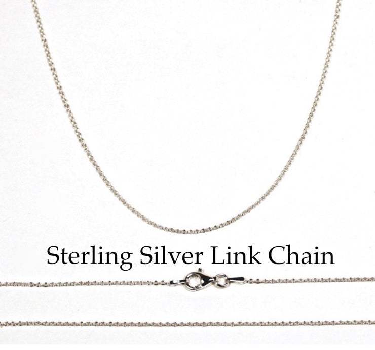 Sterling Silver Throat Chakra Necklace