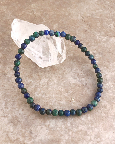 Azurite Mini 4mm Gemstone Bracelet