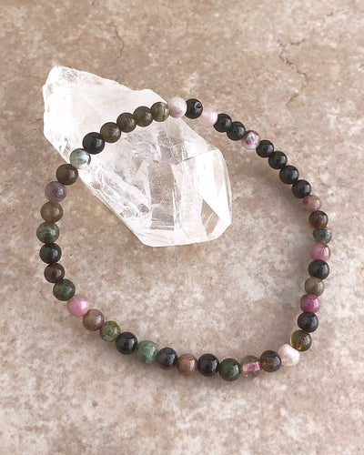Colored Tourmaline Mini Gemstone Bracelet