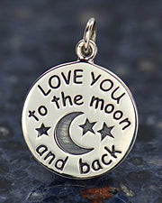 Love You To The Moon And Back Necklace - CELESTIAL LOVE