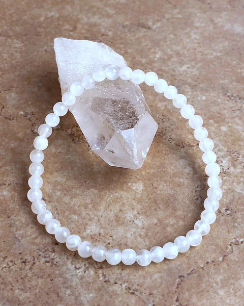 Moonstone Mini 4mm Gemstone Bracelet