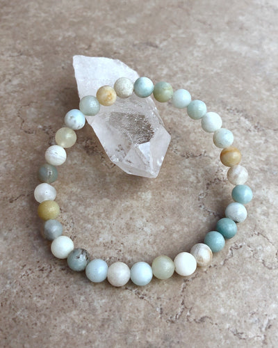 Multi Amazonite 6mm Gemstone Bracelet