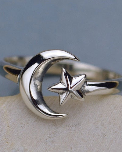 Adjustable Moon and Star Ring - MYSTICAL DREAMER