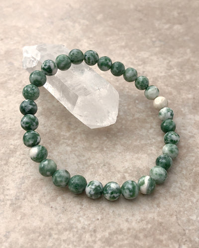 Natural Green Jade Gemstone Bracelet