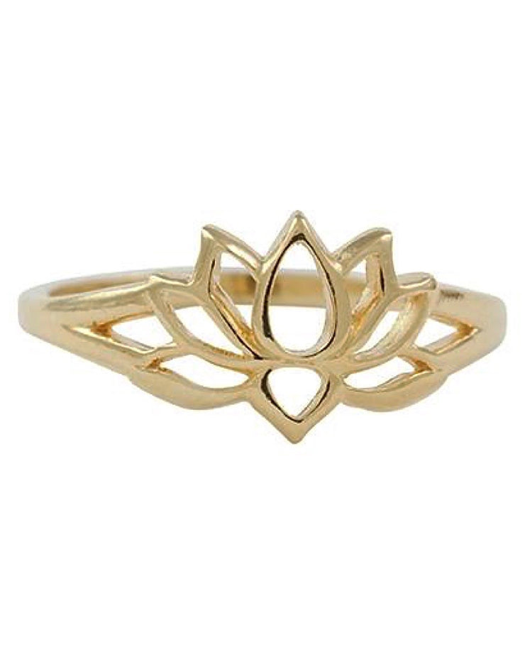 NEW BEGINNINGS - Gold Vermeil Lotus Ring