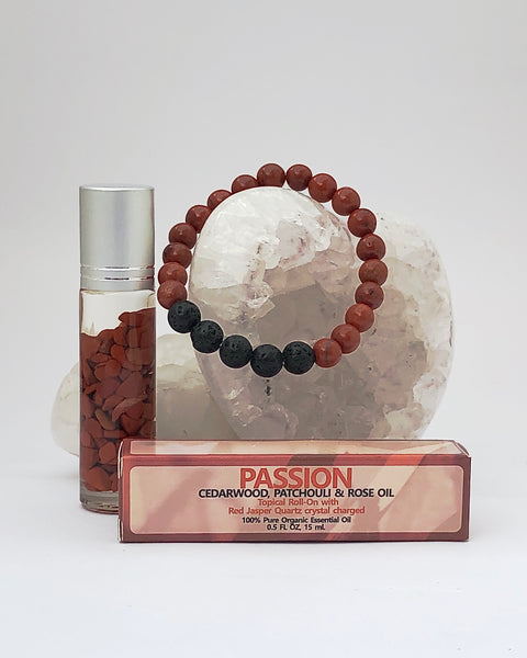 Red Jasper Roll On and Bracelet - PASSION