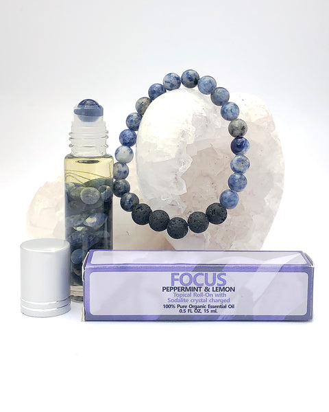 Sodalite Roll On and Bracelet - FOCUS