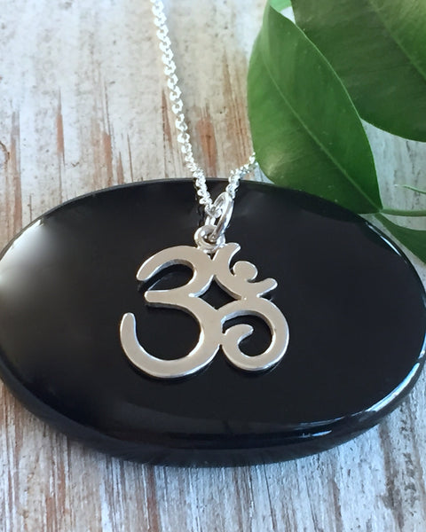 Sterling Silver Om Necklace - BREATH OF LIFE