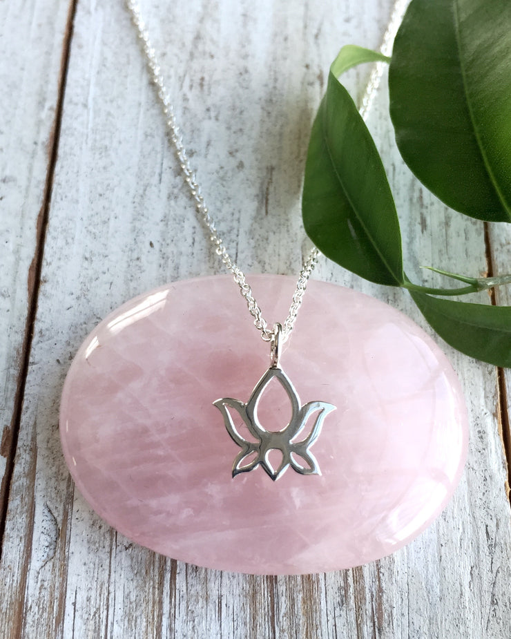 Sterling Silver Open Lotus Necklace