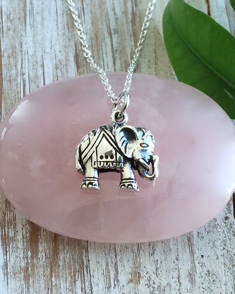 Silver Elephant Necklace - WISE ONE