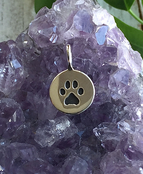 Silver Paw Print Necklace - FAITHFUL FRIEND