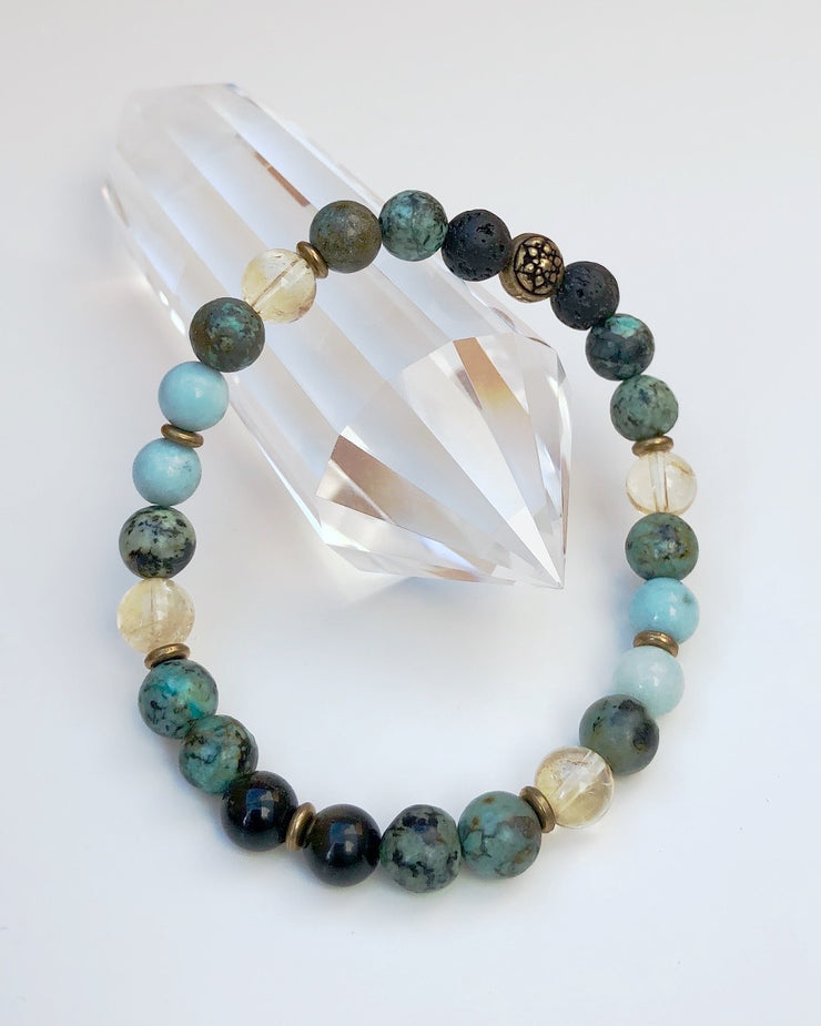 PEACE AND CALM - Men's Gemstone Bracelet