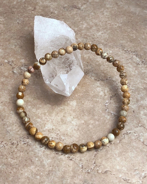 Picture Jasper Mini Gemstone Bracelet