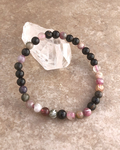 Colored Tourmalione Gemstone Bracelet