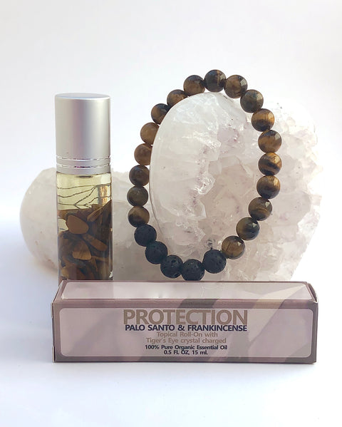 Tiger Eye Roll On and Bracelet - PROTECTION