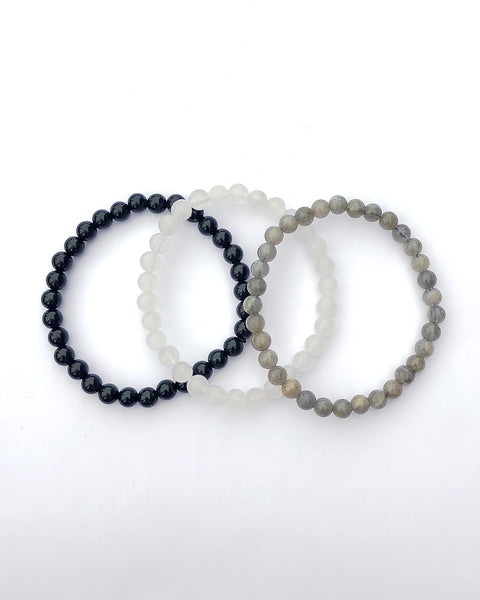 6mm Gemstone Bracelet Set for Protection