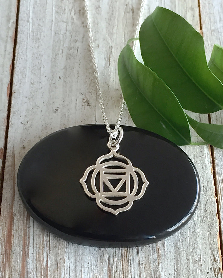 Sterling Silver Root Chakra Necklace