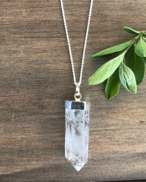 Rough Quartz Crystal Pendant