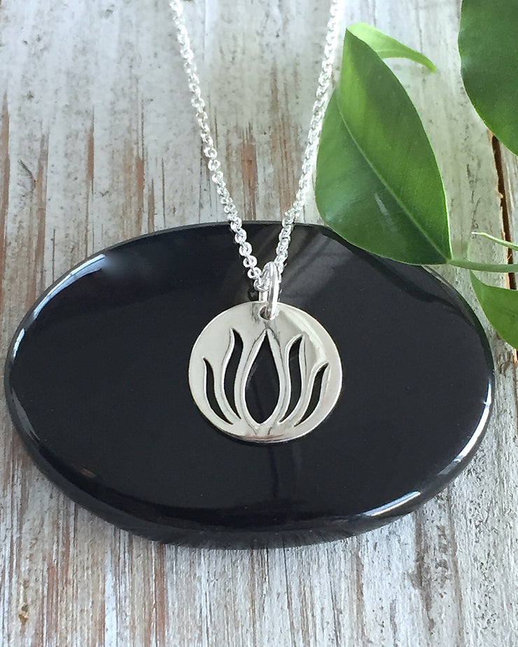 BREAKING THROUGH - Lotus Necklace