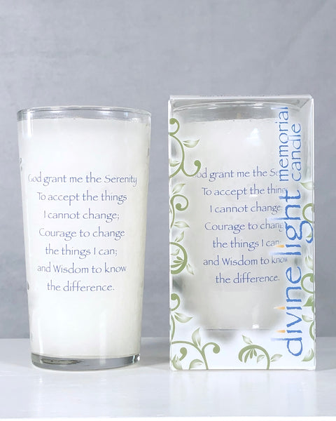 Prayer of St. Francis Memorial Candle