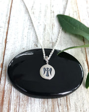 Silver Tiny Angel Disc Necklace - LITTLE MIRACLES
