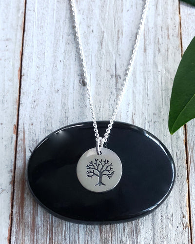 Silver Tree of Life Disk Necklace - WISDOM SEEKER