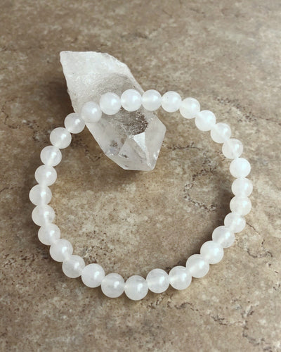 Snow Quartz 6mm Gemstone Bracelet
