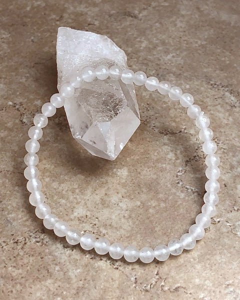 Snow Quartz Mini Gemstone Bracelet
